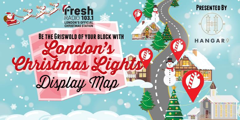 London's Christmas Lights Display Map